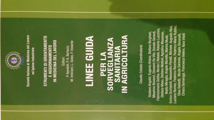 Il Dott. Donato Gerardi coautore delle Linee Guida SIMLII per la Sorveglianza Sanitaria in Agricoltura